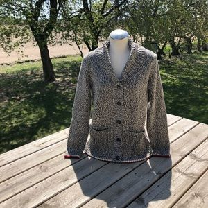 NWOT Roots cabin shawl cable cardigan size medium